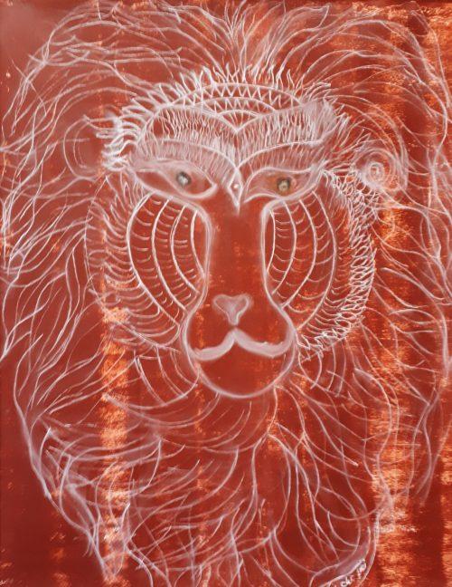 Pavian-Löwe