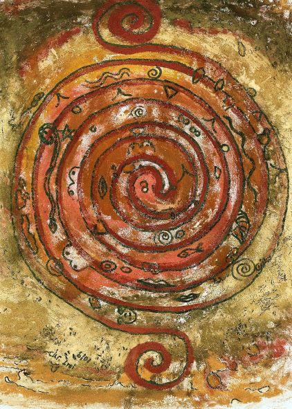 Indianische Spirale