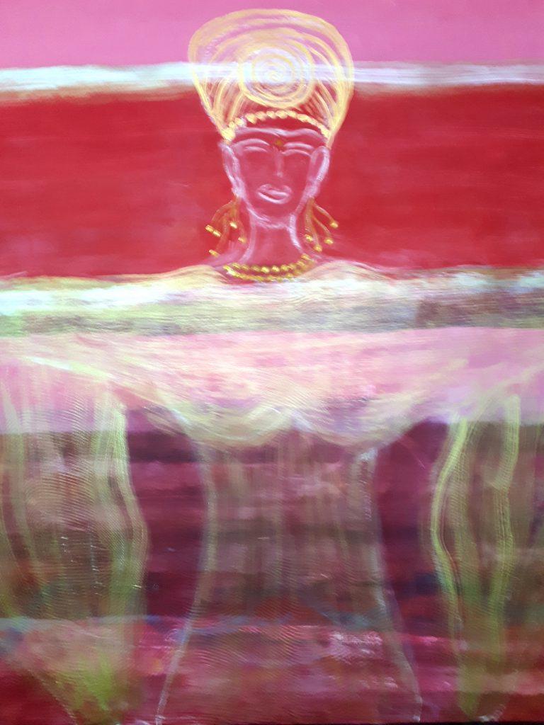 """Gemälde von Christina Mischtechnik auf Karton 90x110 """"erhellende Christuskraft"""""""""""