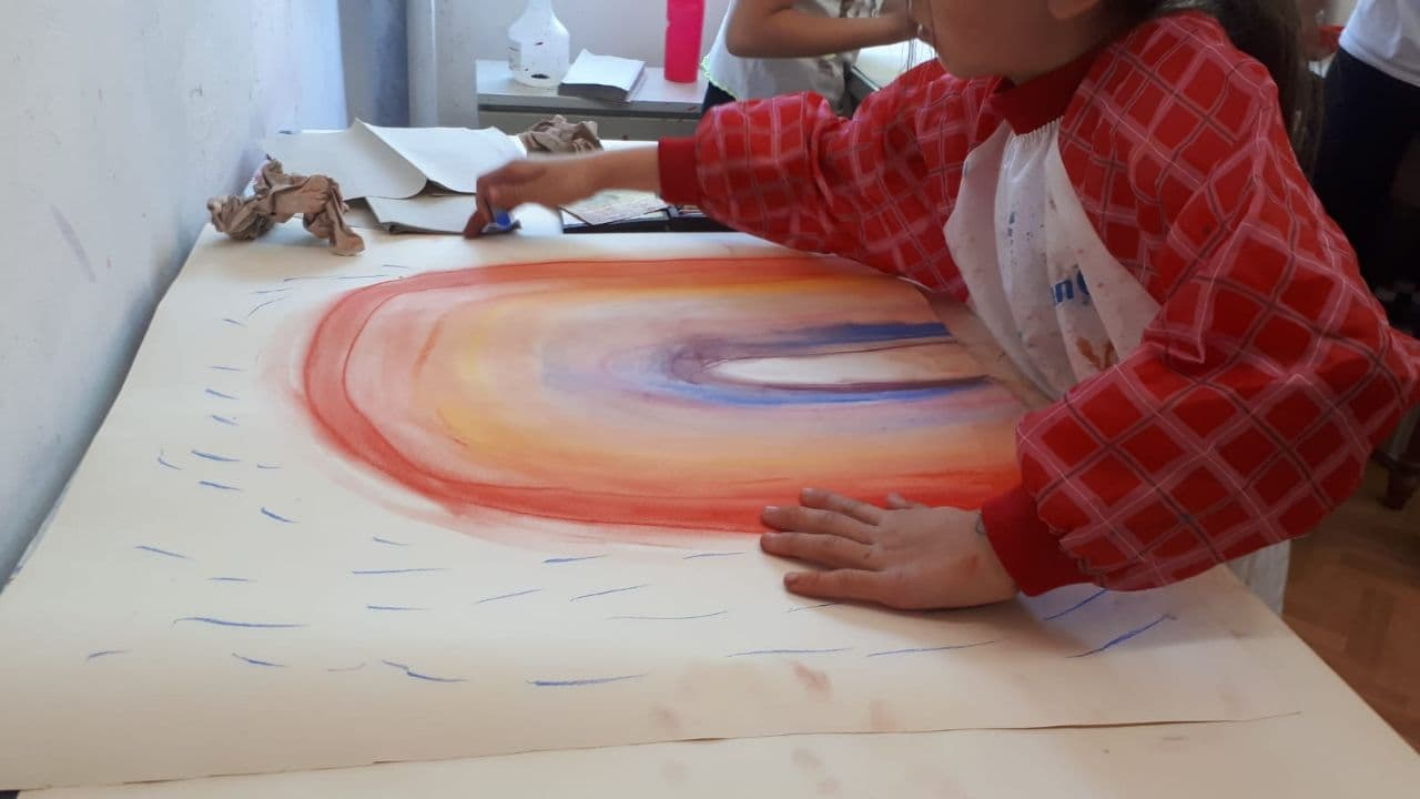 Freies Malen für Kinder mit Christina